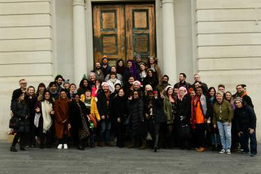The METRO team outside Equitable House in Woolwich