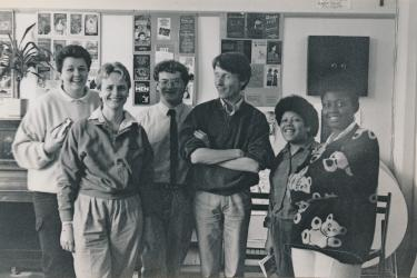 Six members of the Greenwich Lesbian and Gay Centre's management committee of 1987-1988