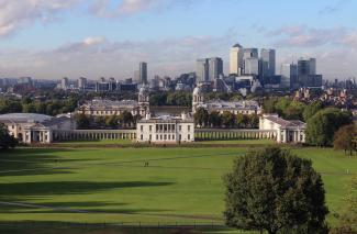 A view from Greenwich Park of the city of London