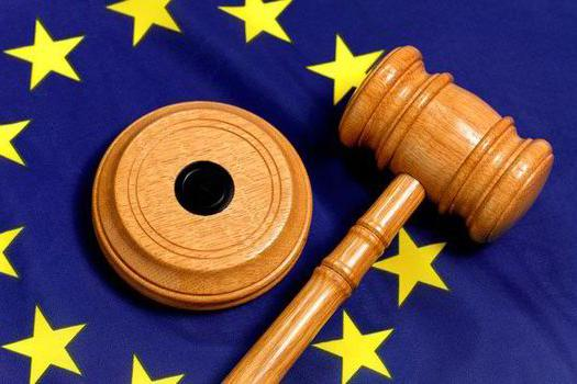 A flag of the EU and a judge's gavel