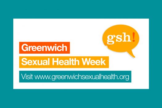 Greenwich Sexual Health Week logo. Image says visit www.greenwichsexualhealth.org