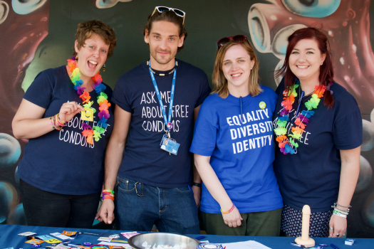 Some of our sexual health team at Margate Pride