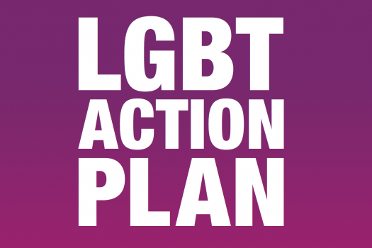 Section of the front cover of the Government's new LGBT Action Plan