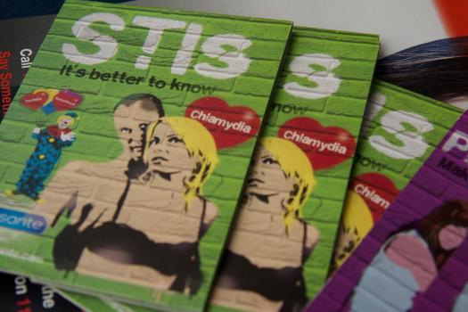 Leaflets about sexually transmitted infections