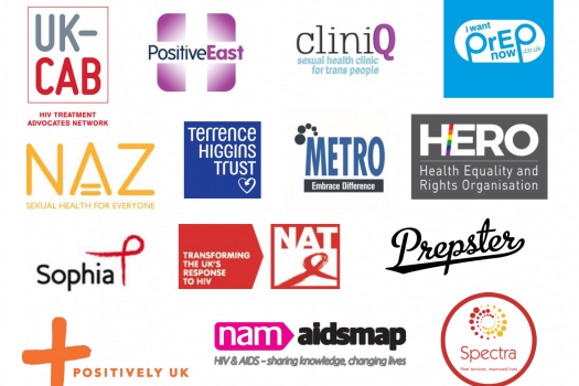 Logos of charities who have signed the letter