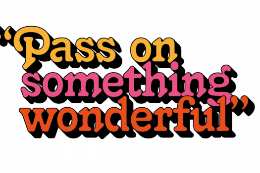 """Pass on something wonderful"" logo"