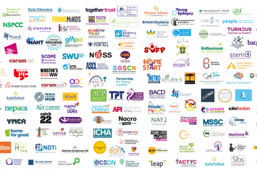 Grid of logos of supporting youth organisations