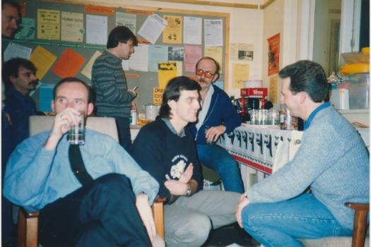 Gay men's group Christmas party at the Greenwich Lesbian and Gay Centre in 1987