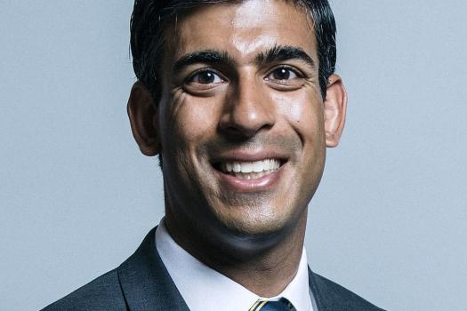 Portrait photograph of the Chancellor of the Exchequer, Rishi Sunak