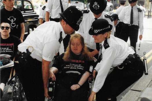 Sue_Elsegood_arrested_during_protests
