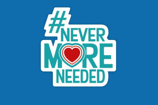#NeverMoreNeeded logo